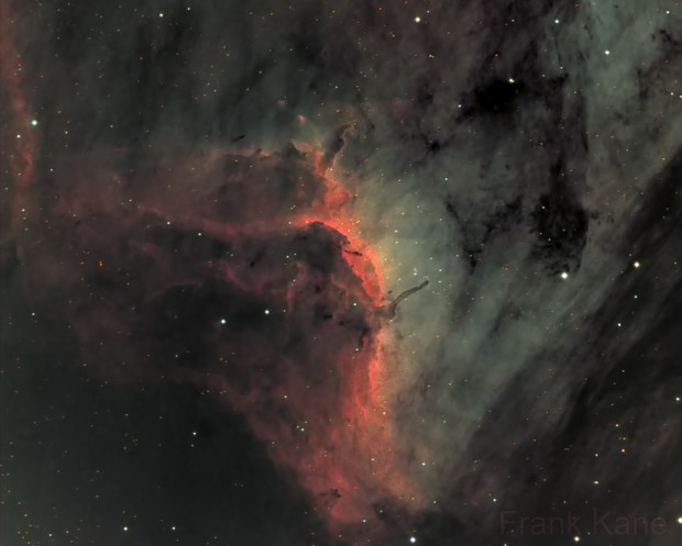 Pelican Nebula, in synthetic RGB