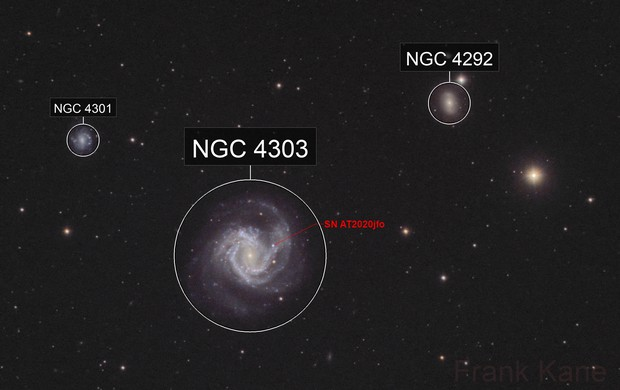 M61 with supernova!