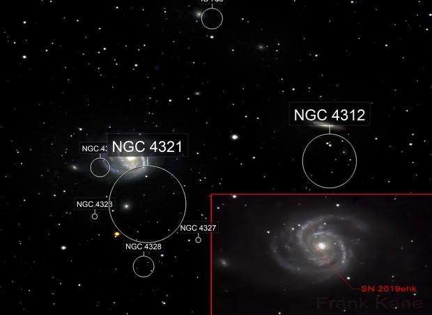 M100 (containing supernova SN 2019ehk)