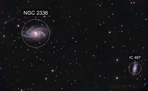 NGC 2336 + IC 467