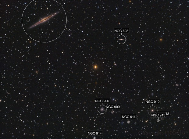 NGC 891 + Abell 3347