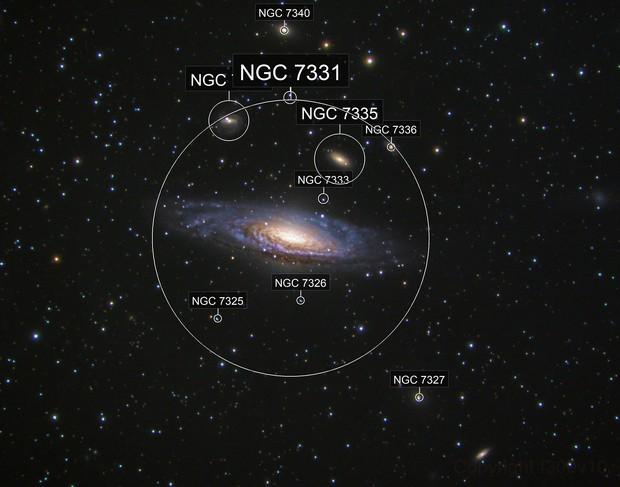 NGC 7331 + Deer Lick group