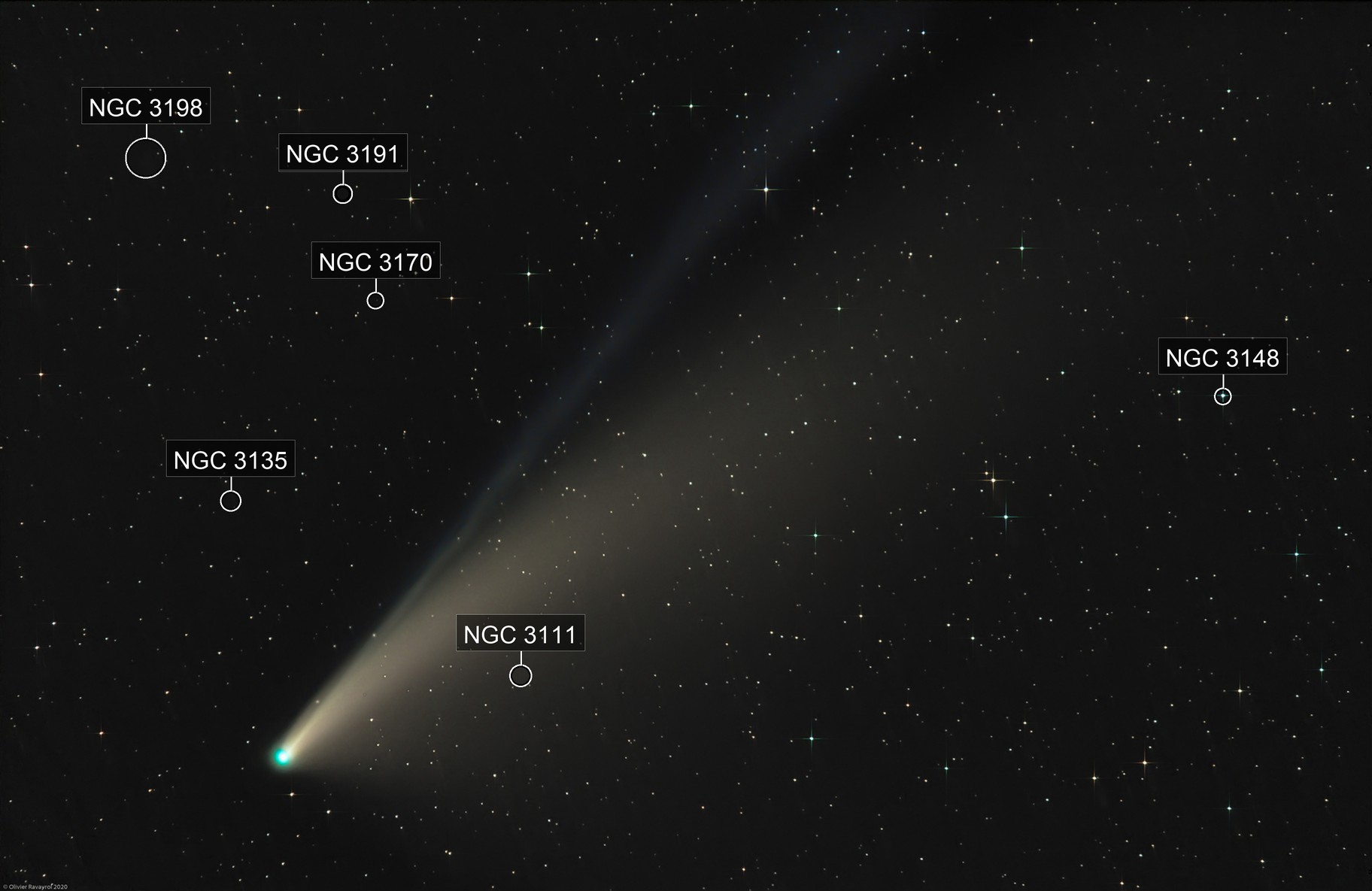 Comet Neowise (L-RVB / 200 mm)
