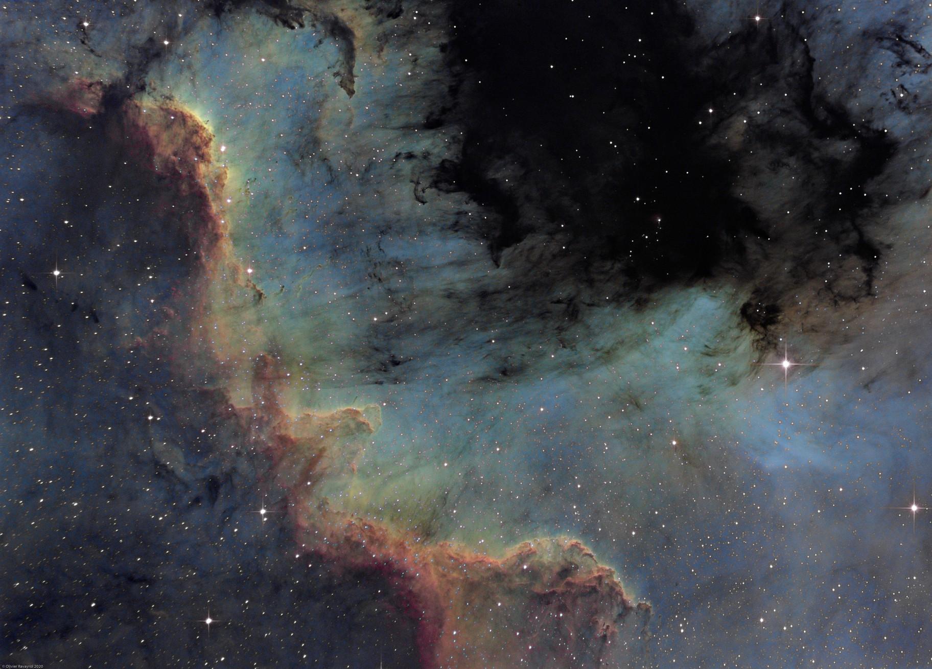 The great wall - North America Nebula