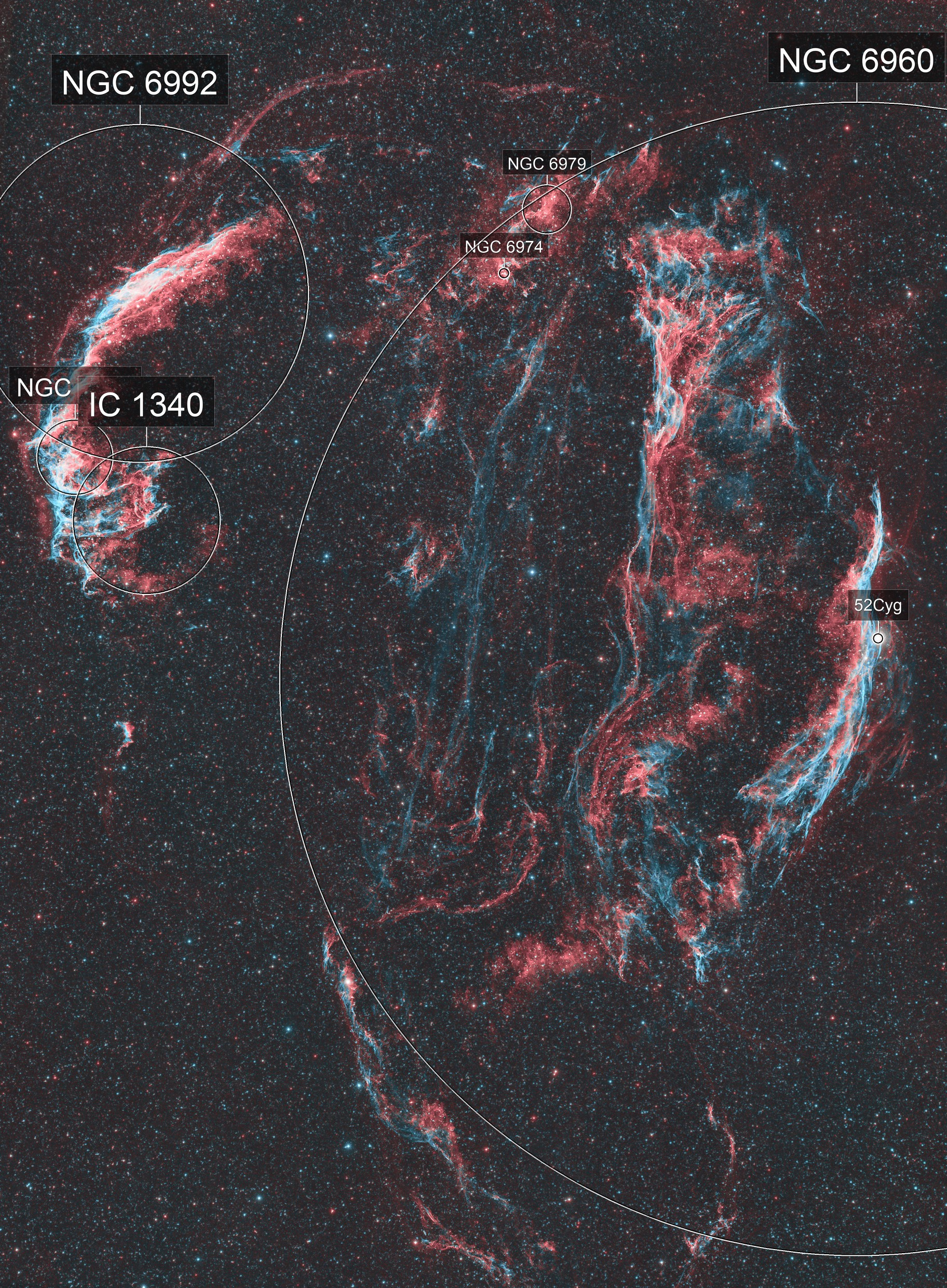 Cygnus Loop - A Stellar Death