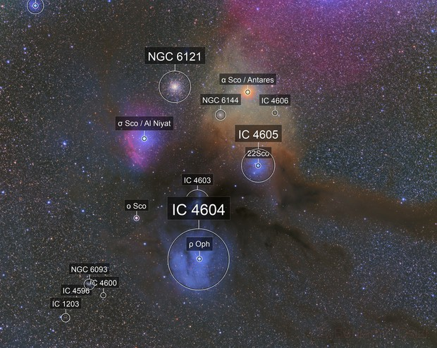 Rho Ophiuchi Cloud Complex with the ChileScope VST