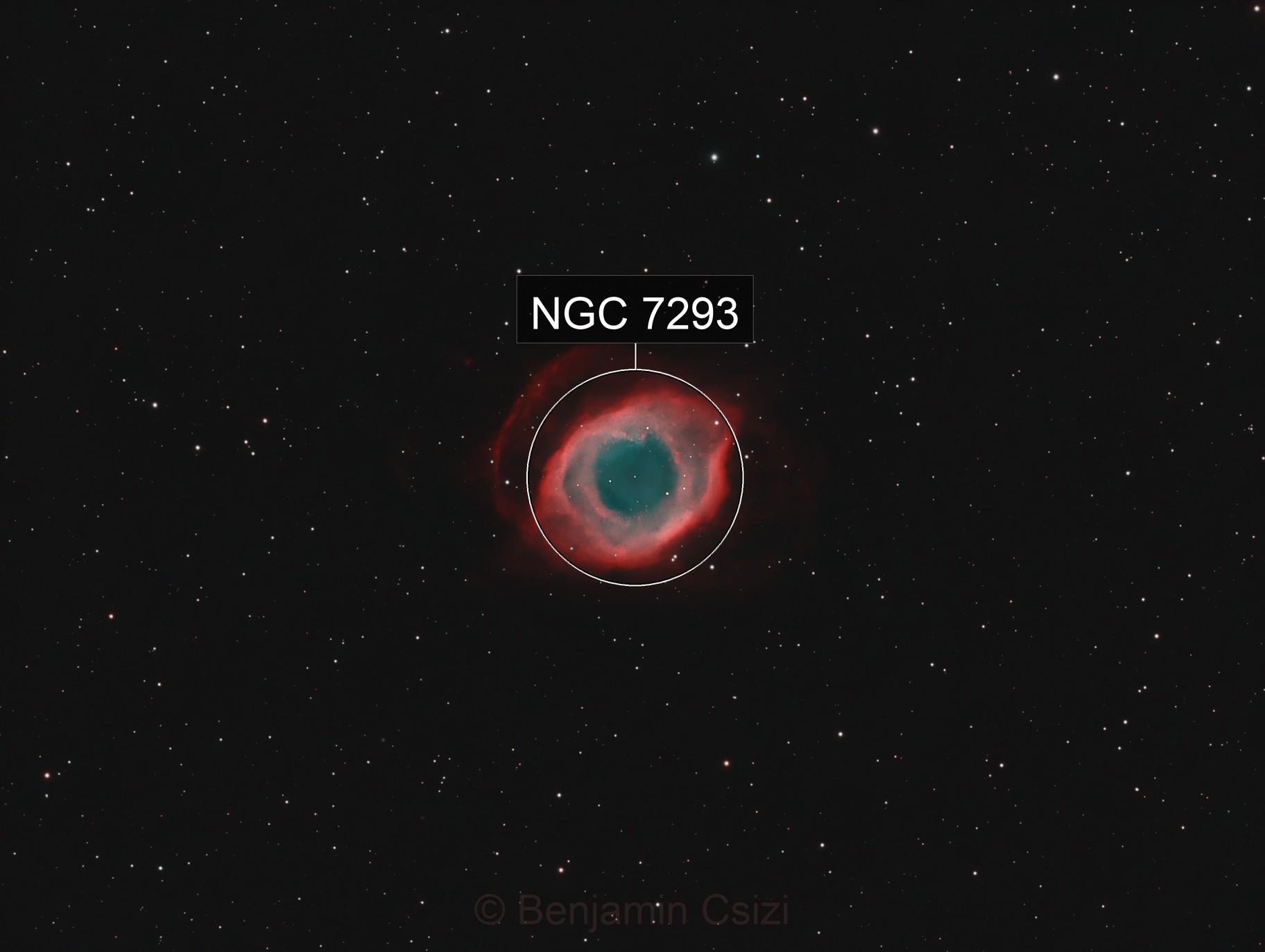 Eye of Sauron NGC7293 in HOO