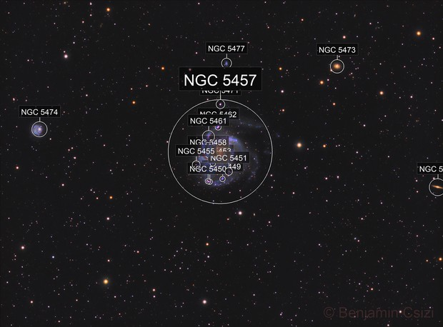 Wide field of M101 in LHaRGB