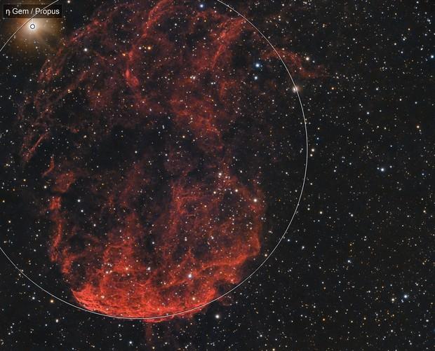 IC 443 - Jellyfish Nebula in HaRGB