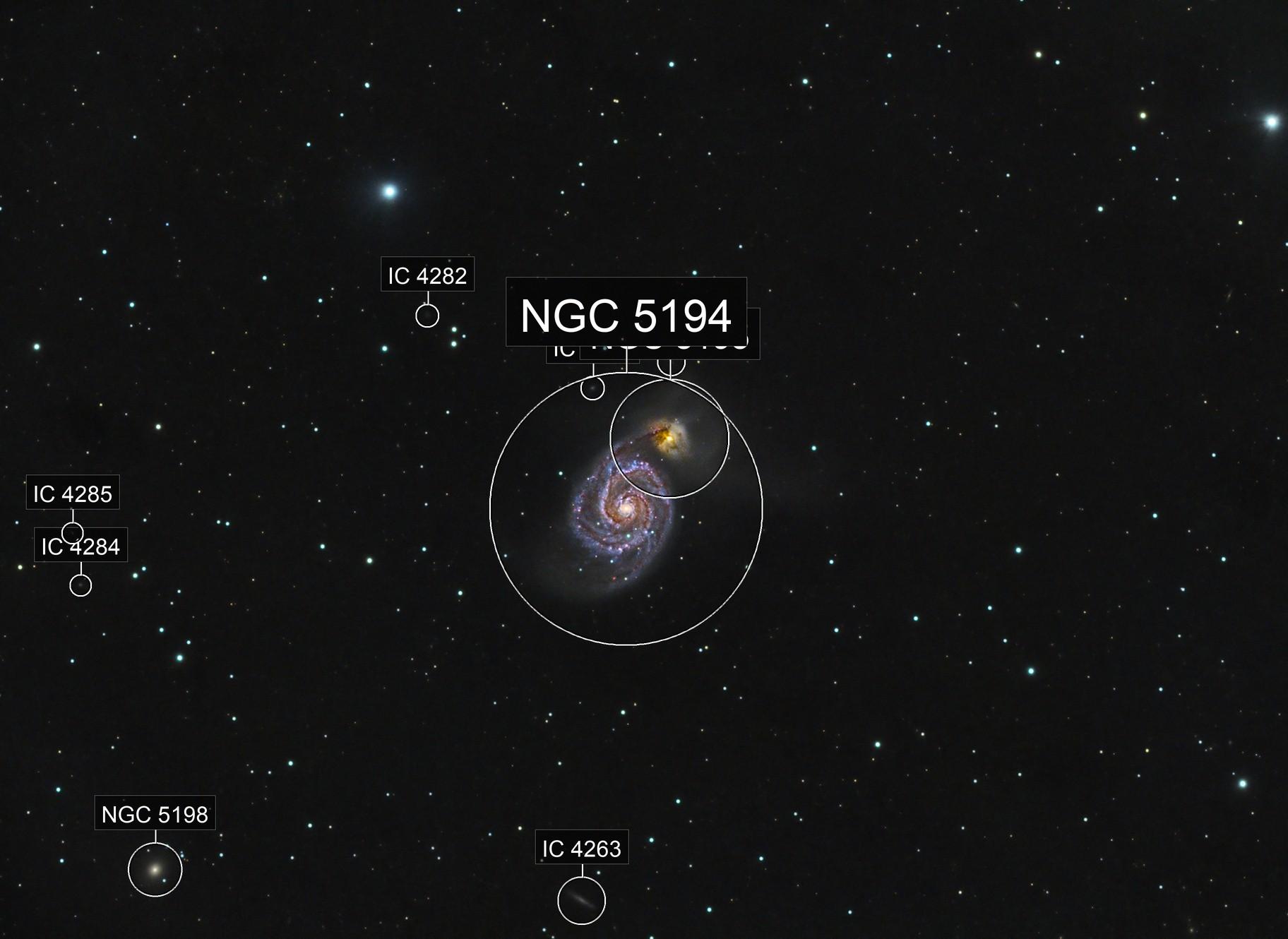 The Whirlpool Galaxy (M51) in HaRGB