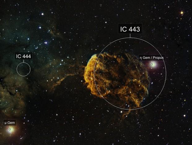 IC443  Jellyfish Nebula in SHO
