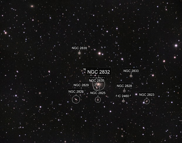 NGC2831 Galaxy Cluster