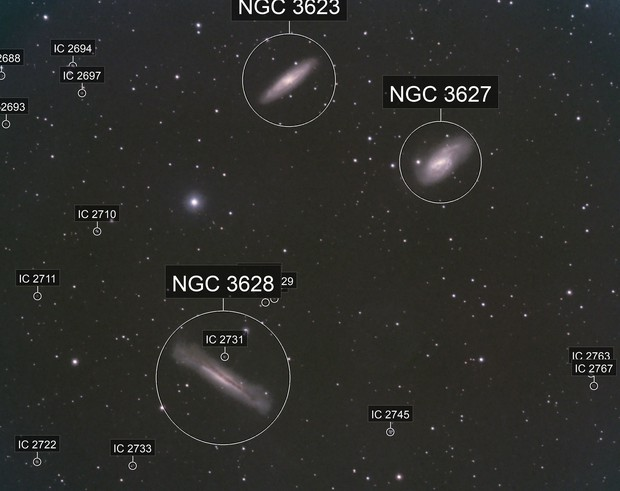 LEO TRIPLET, FIRST MONO IMAGE POSTED