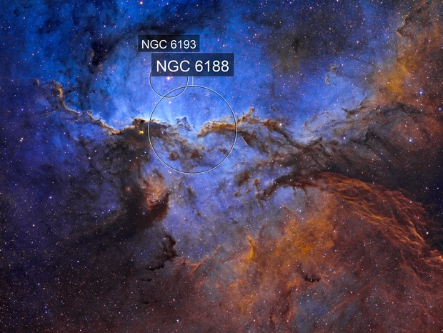 NGC6188 - Fighting Dragons of Ara