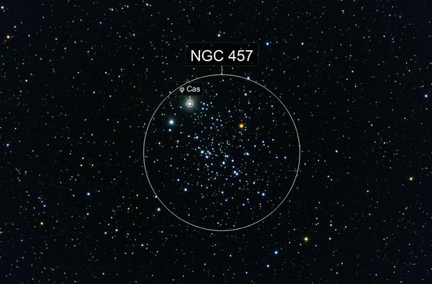 NGC 457 - Owl Cluster/ET Cluster