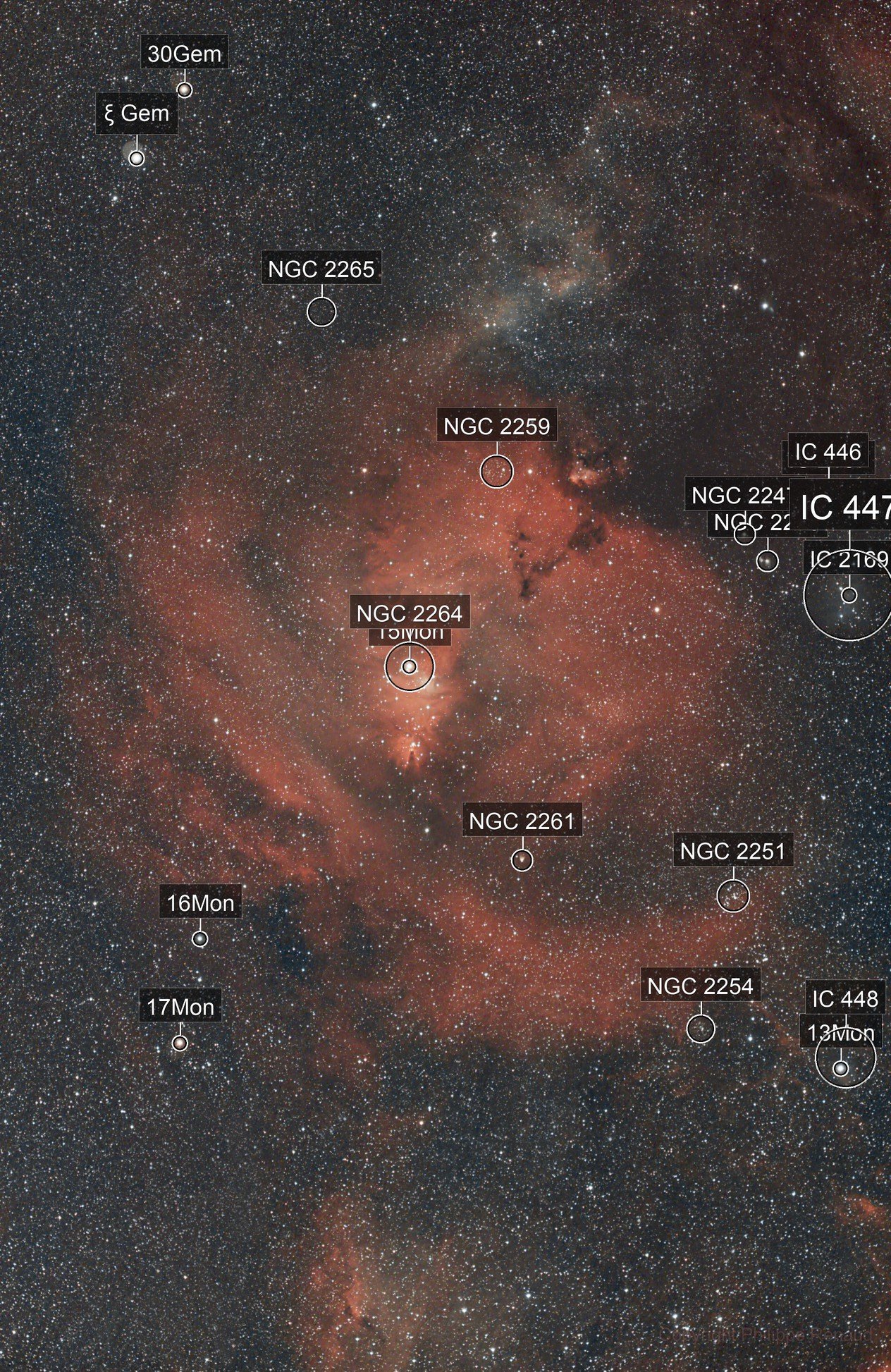 Region of Cone Nebula NGC2264