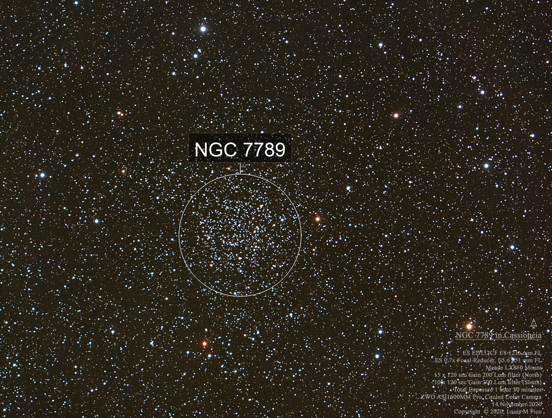 NGC 7789 in Cassiopeia