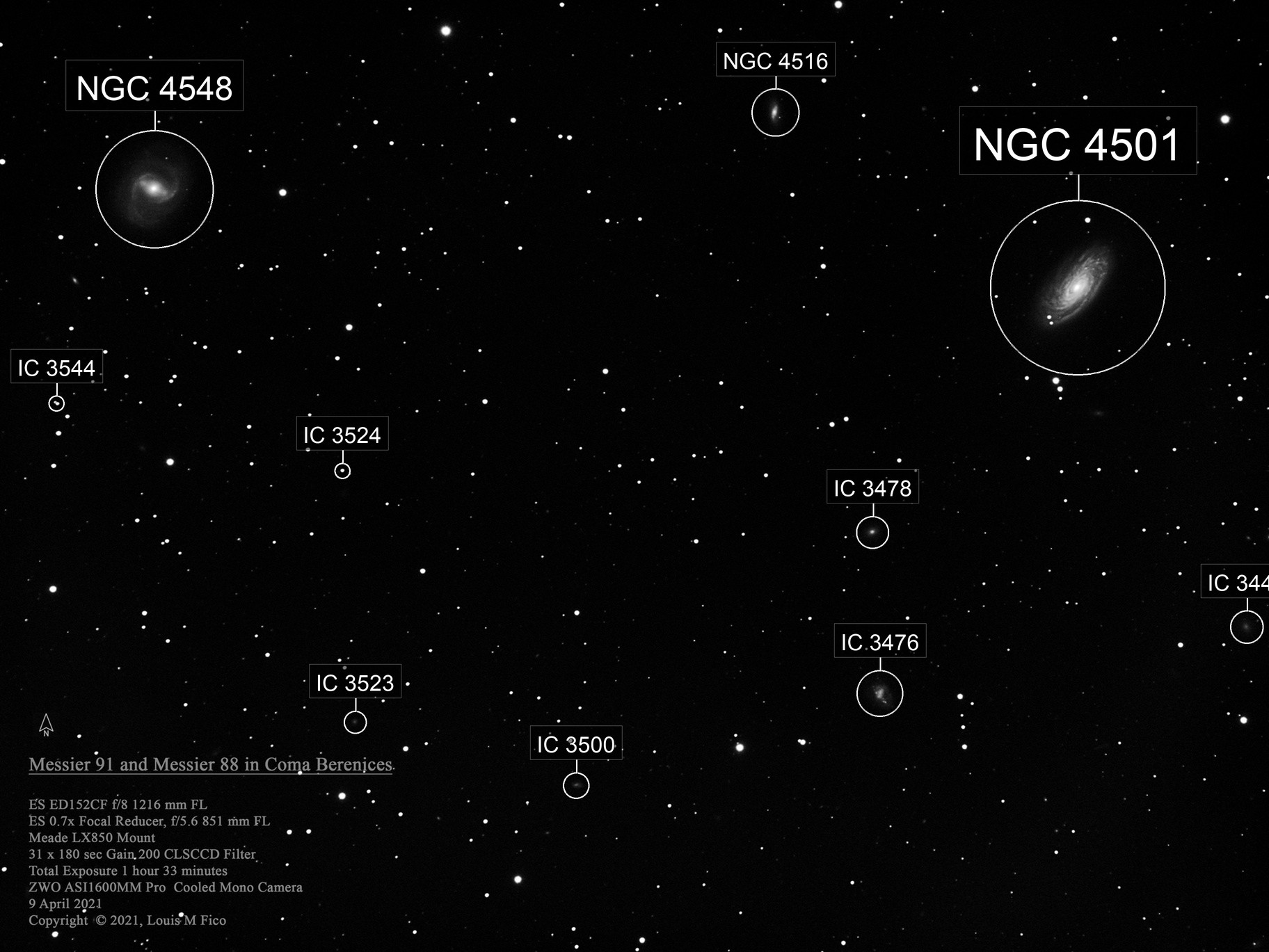Messier 91 and Messier 88