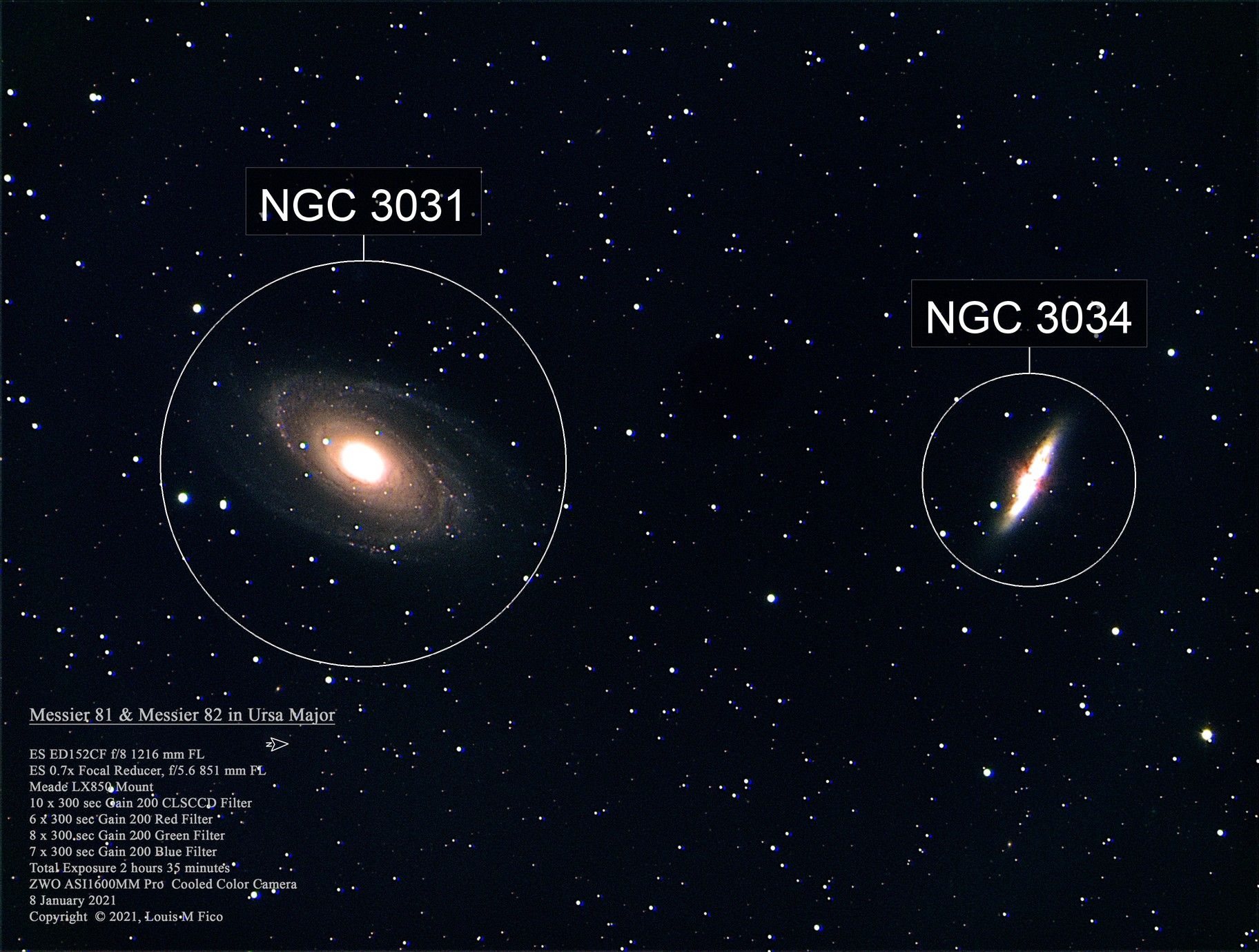 Messier 81 and Messier 82