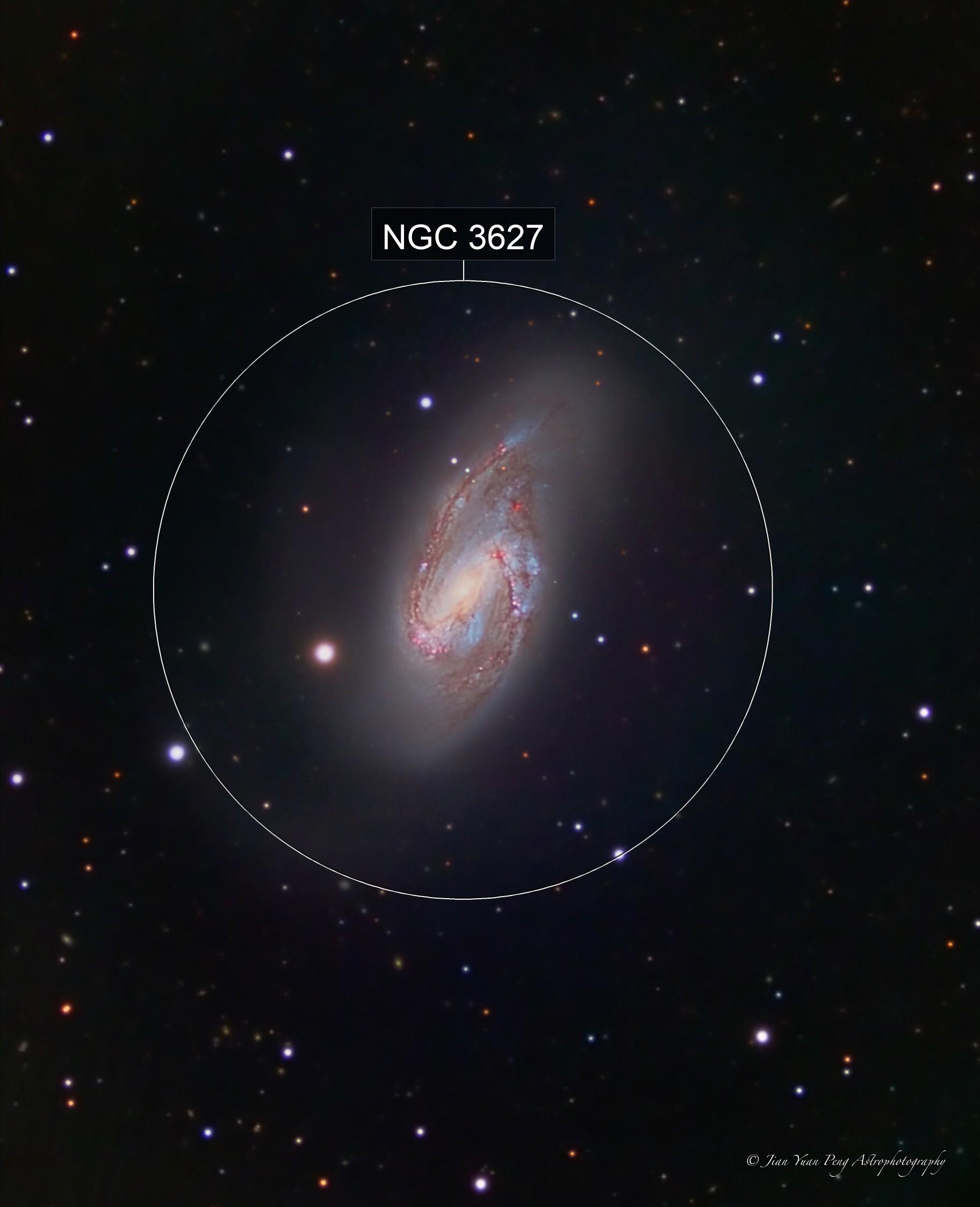 Messier 66 (a.k.a. NGC 3627) - LRGB