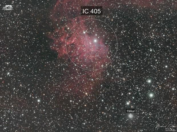 IC405 The Flaming Star Nebula HOORGB