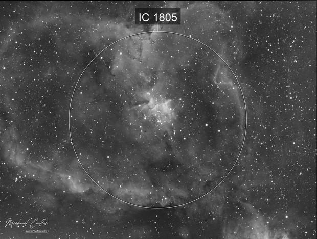 IC1805 Heart Nebula (Ha Data)