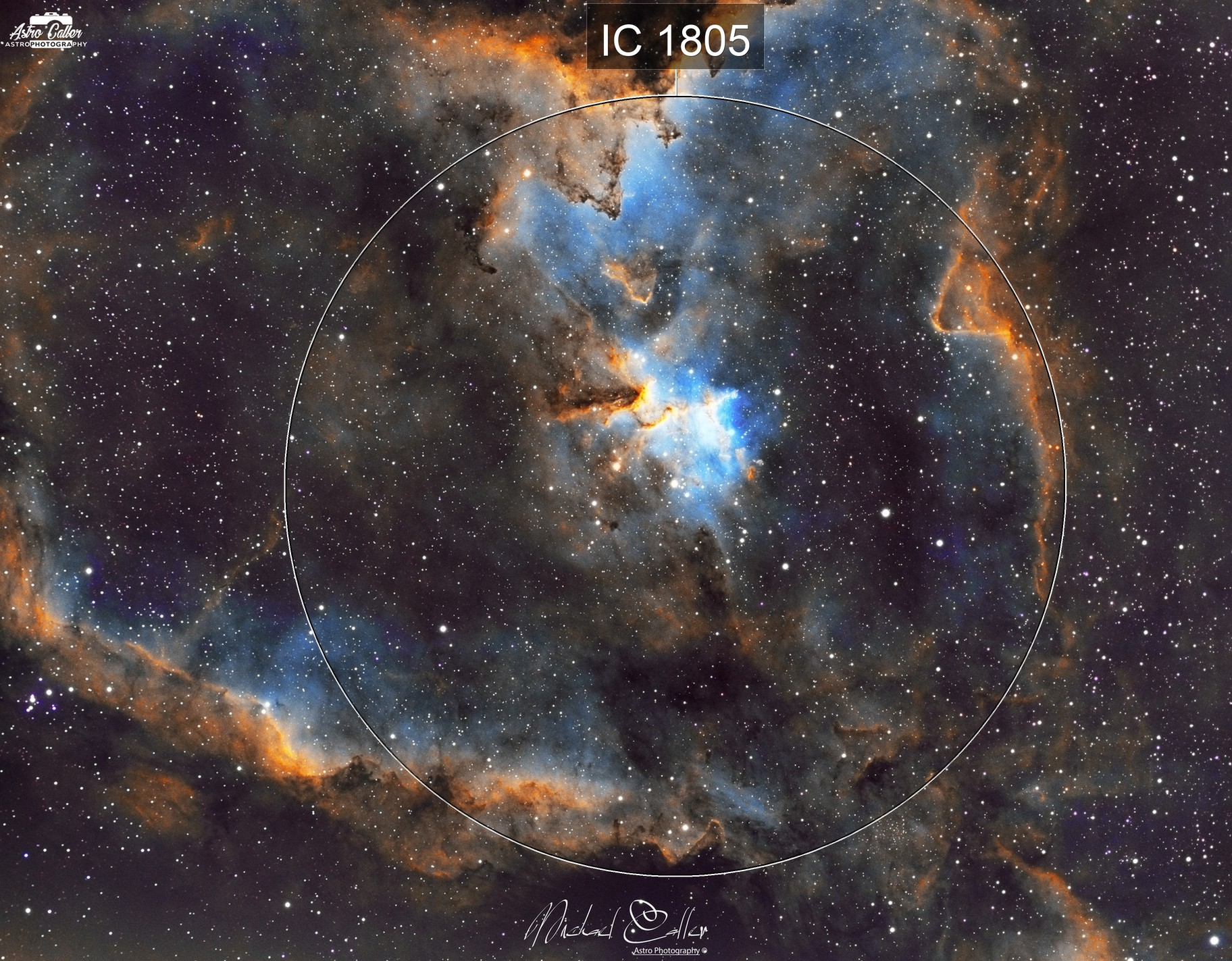 IC1805 Heart Nebula (SHO)