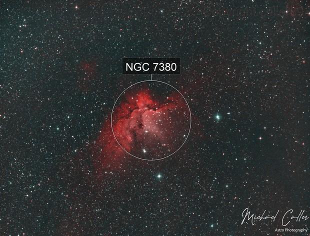 NGC 7380 Wizard Nebula HOO