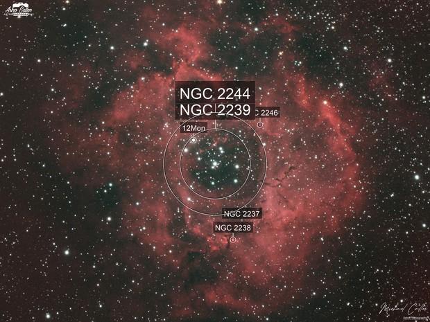 NGC 2244 ROSETTE NEBULA HaLRGB