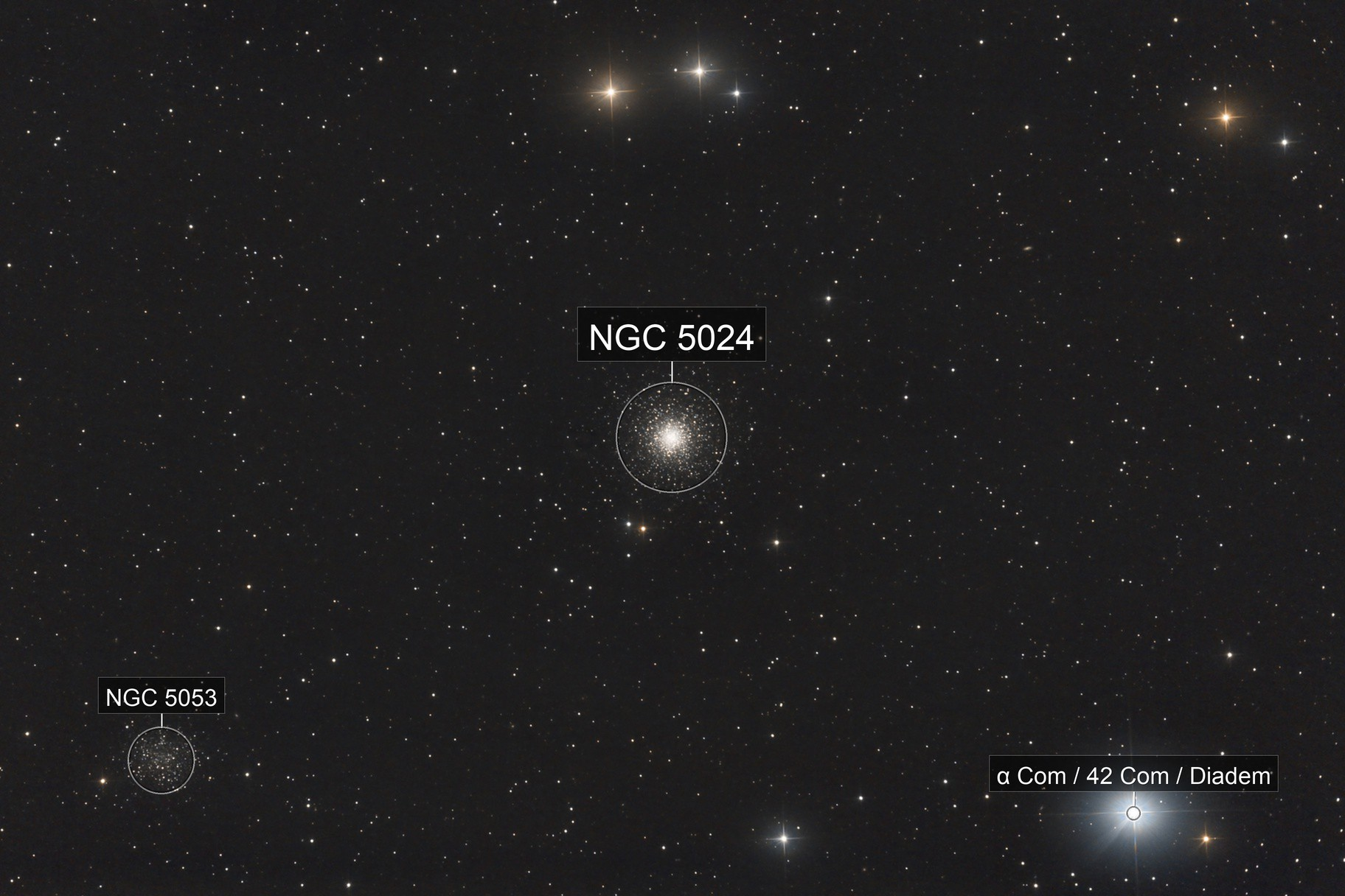 M53 and NGC5053 - Coma Berenice