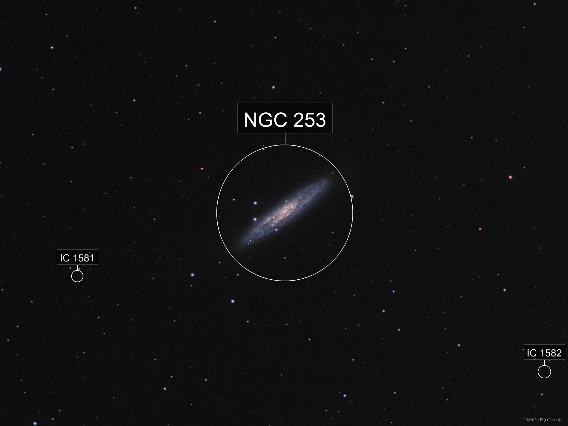 Sculptor Galaxy From Above