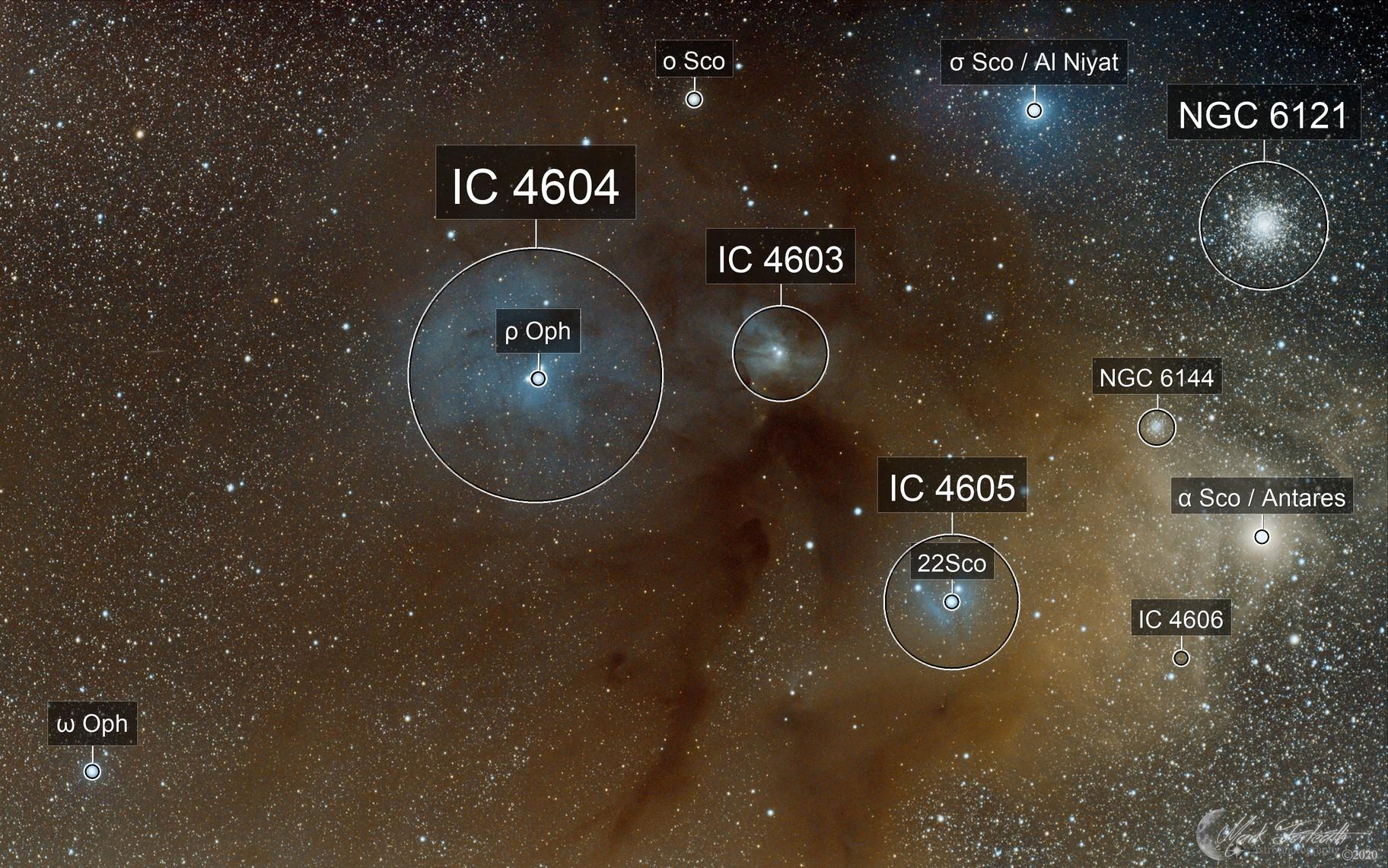 Rho Ophiuchi IC4604