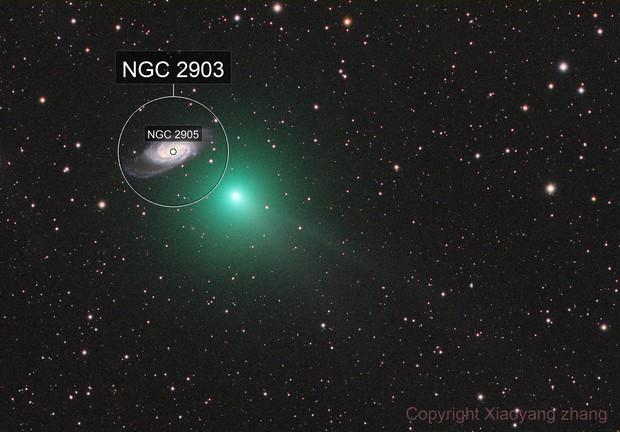 C/2018 Y1 & NGC2903 (color)