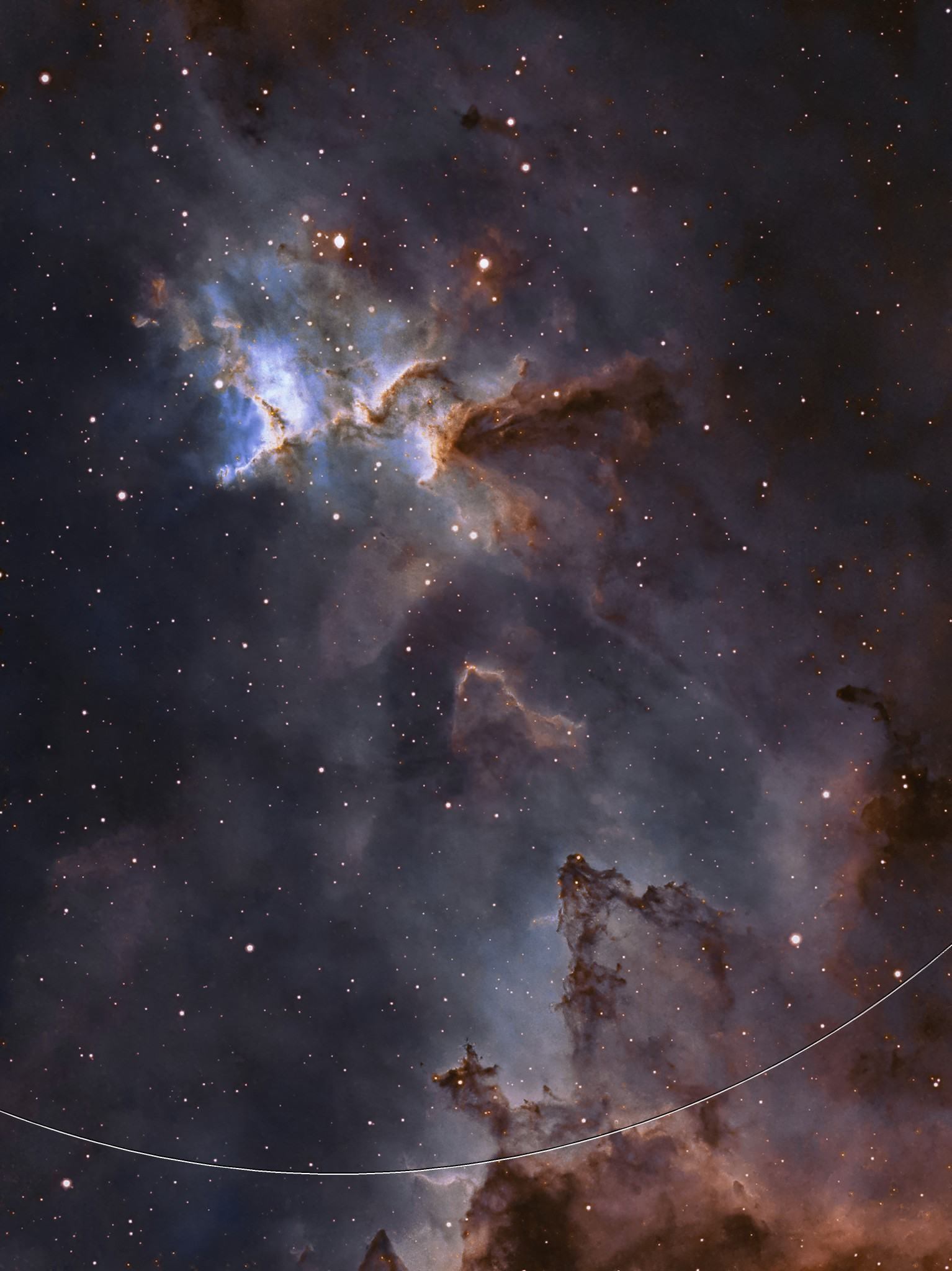 Melotte 15 in IC1805 Heart Nebula in SHO Hubble palette.