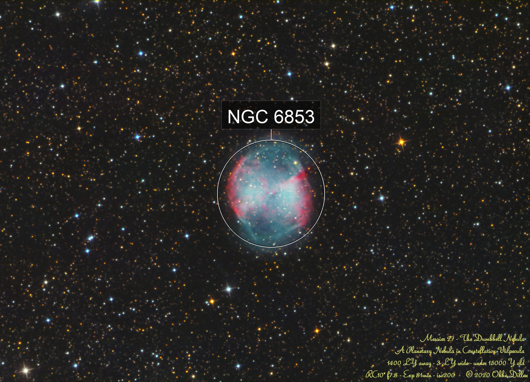 A very classic M27 - during full moon - just for fun ;-)