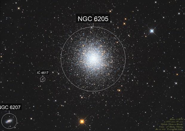 Good old M13, NGC6207 and IC4617