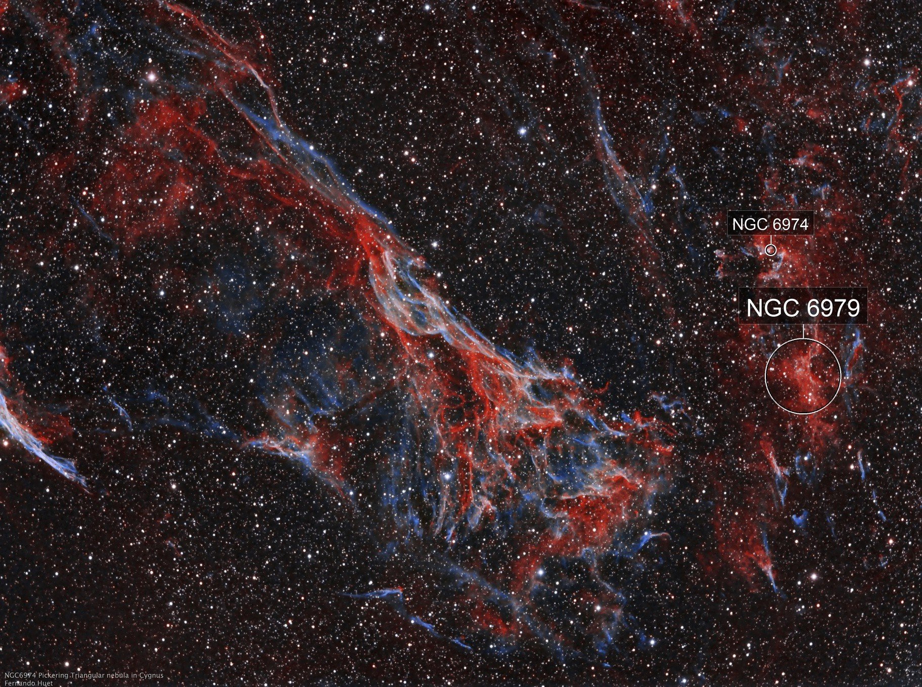 NGC6979 and Pickering's Triangle in Cygnus