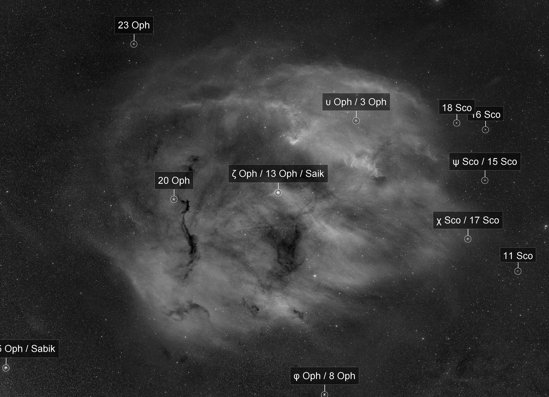 Zeta Ophiuchi Nebula Mosaic