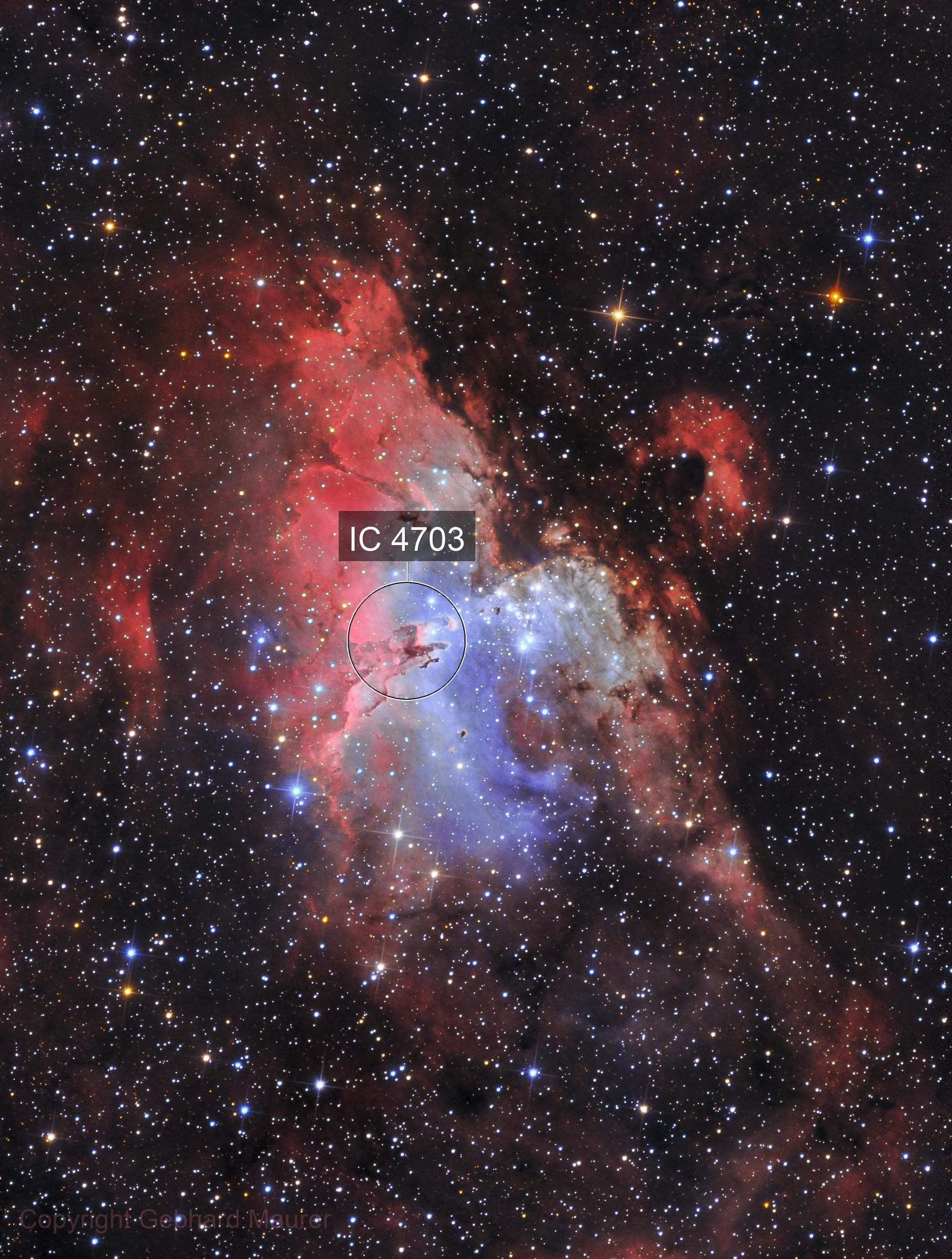 M16 Eagle Nebula in HaOIII-LRGB