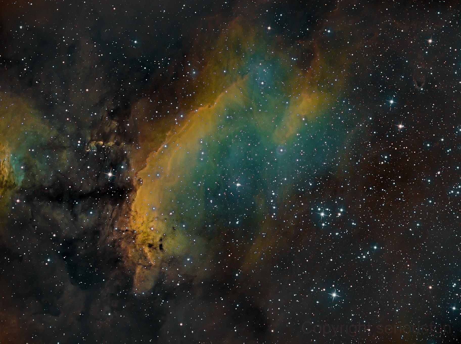 IC 4628 - The Prawn Nebula in Narrow Band