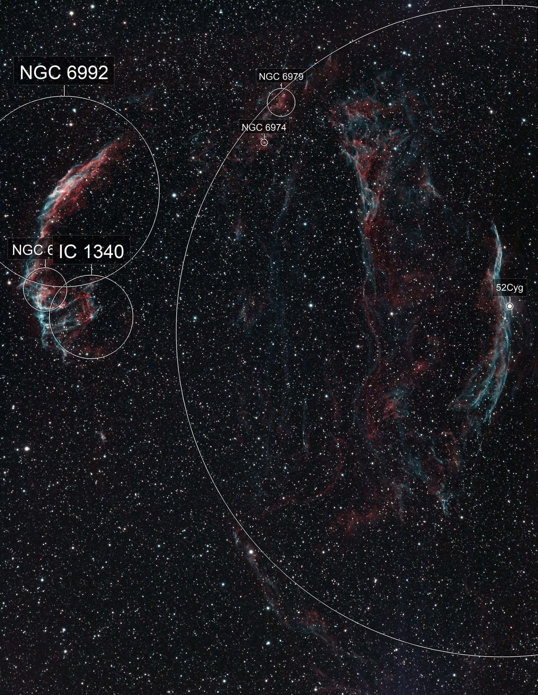 Cygnus Loop / Veil Nebula / Witch's Broom Nebula