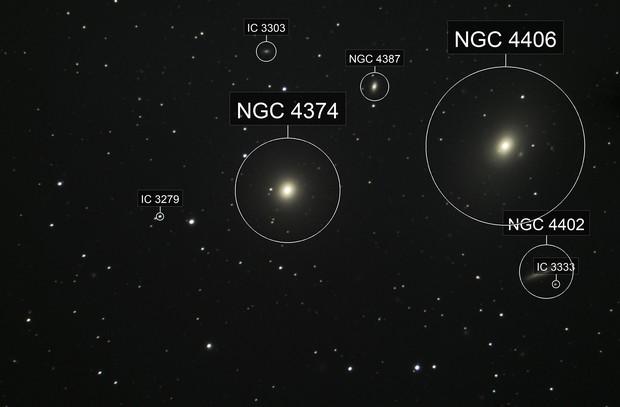 Messier 84 & 86