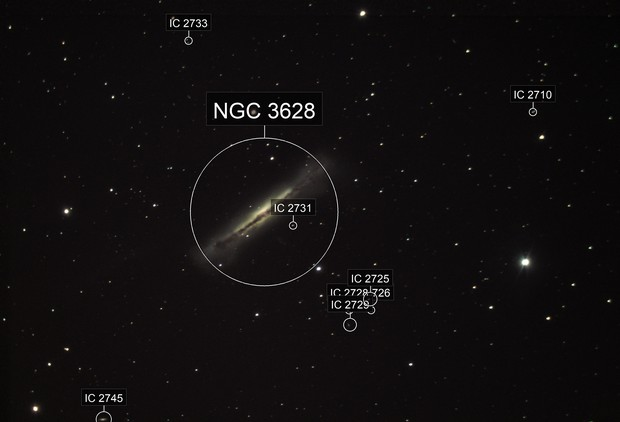 Hamburger Galaxy - NGC 3628