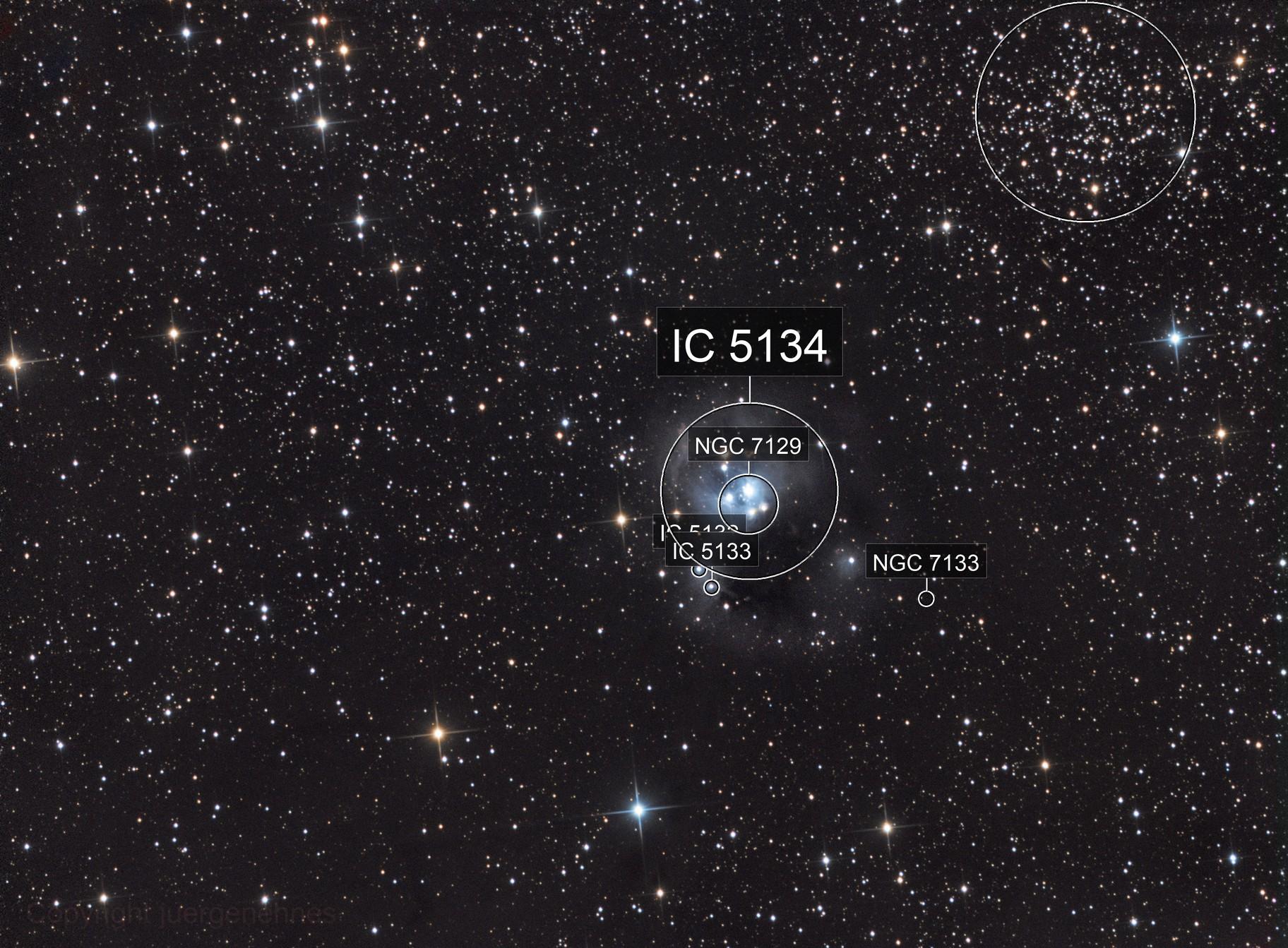 NGC 7129 in LRGB