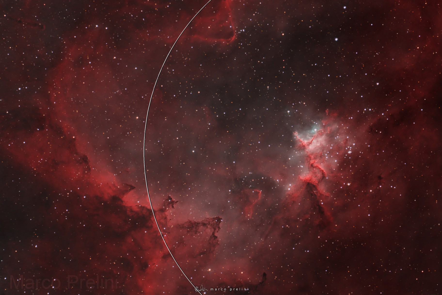 At the center of the heart (Mel 15), SH2-190