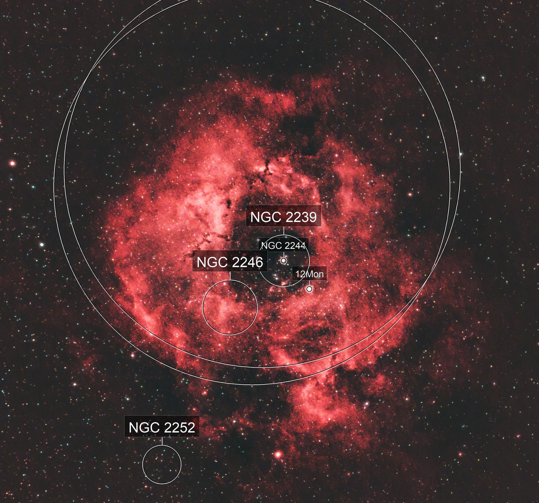 Rosette Nebula - through the clouds