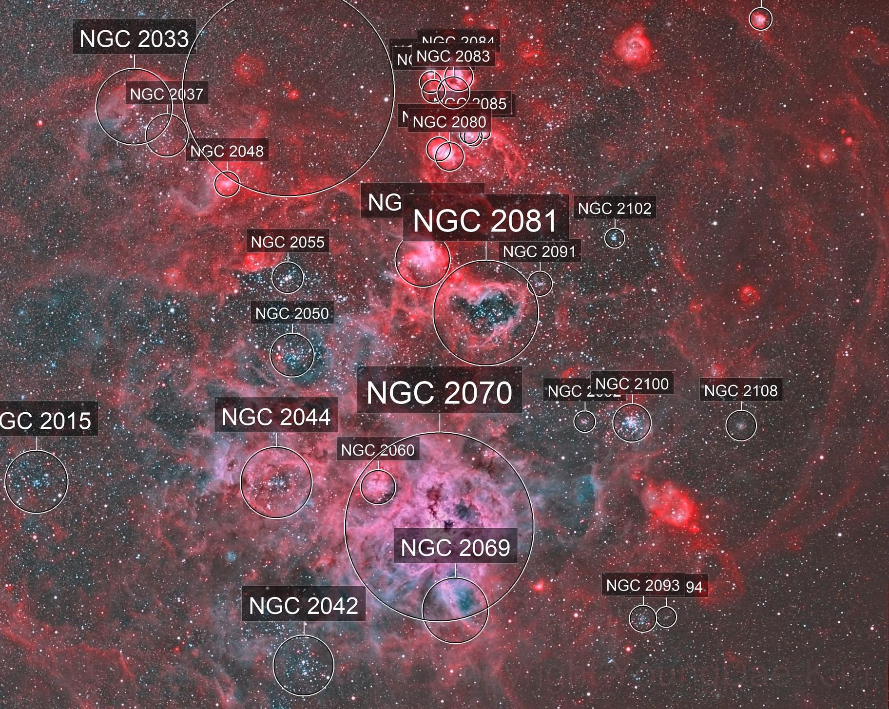 NGC2070, NGC2074, etc...