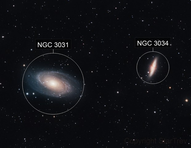 M81 and M82, Bode's Galaxy and the Cigar Galaxy