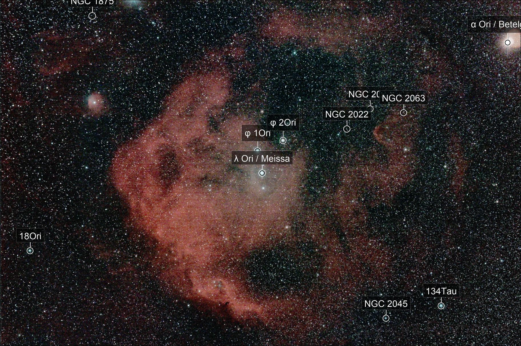 Head of Orion (Meissa Nebula)