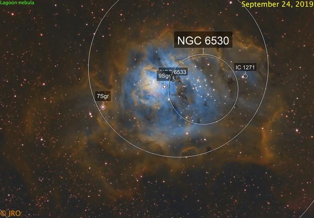 Lagoon nebula in SHO